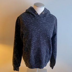 Black Hoodie with white spots. Size Med.